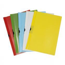 Cartellina con molla Spring File - PVC - 22x31 cm - dorso 7 mm - blu - Methodo