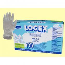 Guanti in lattice - monouso - taglia piccola - Logex Professional - scatola da 100 paia
