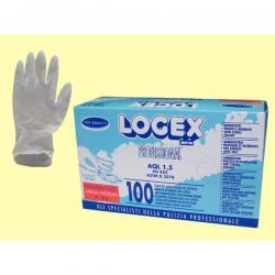 Guanti in lattice - monouso - taglia media - Logex Professional - scatola da 100 paia