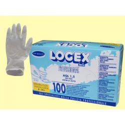 Guanti in lattice - monouso - taglia grande - Logex Professional - scatola da 100 paia
