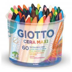 Barattolo pastelli cera maxi - 100mm - ø 11.5mm - Giotto - Conf. 60 pezzi