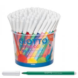 Pennarelli Turbo Color - punta ø2,8mm - colori assortiti - Giotto - barattolo 96 pezzi