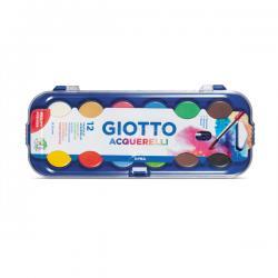 Pastiglie Acquerelli - ø 30mm - colori assortiti - Giotto - astuccio da 12 pastiglie