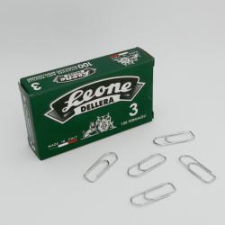 Fermagli zincati N.3 - lunghezza 28 mm - Molho Leone - conf. 100 pezzi