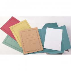 Cartelline 3 lembi - con stampa - cartoncino Manilla 200 gr - 25x33 cm - rosso - Cartotecnica del Garda - conf. 50 pezzi