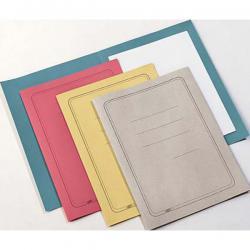 Cartelline semplici - con stampa - cartoncino Manilla 145 gr - 25x34 cm - azzurro - Cartotecnica del Garda - conf. 100 pezzi