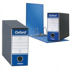 Registratore Oxford G81 - dorso 8 cm - memorandum 23x18 cm - blu - Esselte