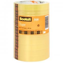 Nastro adesivo Scotch® 508 - 15 mm x 66 mt - trasparente - Scotch® - torre 10 rotoli