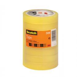 Nastro adesivo Scotch® 508 - 19 mm x 66 mt - trasparente - Scotch® - torre 8 rotoli