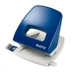 Perforatore Metal Rim 5005 - passo 8 cm - massimo 25 fogli - 2 fori - blu - Leitz