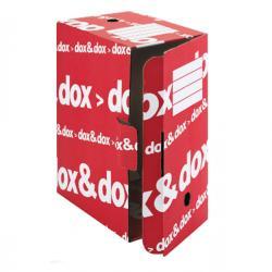 Scatola archivio Dox&Dox - 17x35x25 cm - bianco e rosso - Esselte Dox