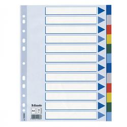 Separatore - 12 tasti colorati - PPL - A4 - multicolore - Esselte