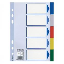 Separatore - 5 tasti colorati - PPL - A5 - multicolore - Esselte