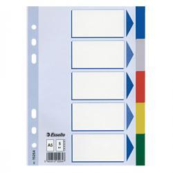 Separatore - 5 tasti colorati - PPL - A5 - multicolore - Esselte
