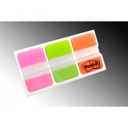 Segnapagina Post-it® Index Strong Medium - 25x38 mm - colori vivaci - Post-it - conf. 66 pezzi