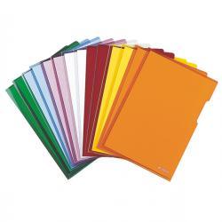 Cartelline a L - PVC - liscio - 21x29,7 cm - giallo cristallo - Esselte - conf. 25 pezzi