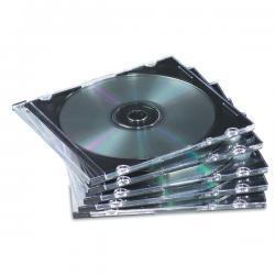 Custodia per CD Jewel Case Slim - trasparente - Fellowes - scatola da 25 pezzi
