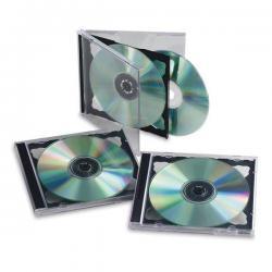 Custodia doppia per CD/DVD - base nera - Fellowes - scatola da 5 pezzi