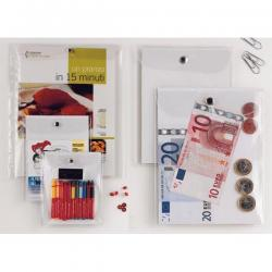 Busta con bottone Press 8E - PVC - 22x30 cm - trasparente - Sei Rota