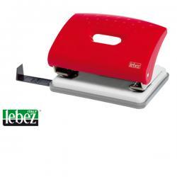 Perforatore 1270 - massimo 16 fogli - 2 fori - passo 8 cm - rosso - Lebez