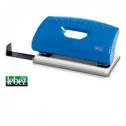 Perforatore 1260 - massimo 10 fogli - 2 fori - passo 8 cm - blu - Lebez