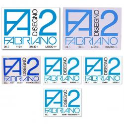 Blocco F2 - 33x48mm - 12 fogli - 110gr - liscio - collato - Fabriano