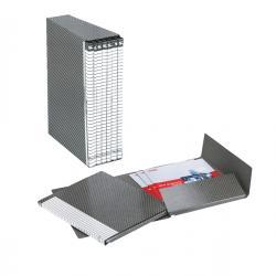 Gruppo Delso Line - 6 cartelle 2 lembi - con custodia - 25x32 cm - dorso 1,5 cm - grigio - Esselte