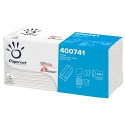Asciugamani piegati a C - goffratura a onda - Papernet - conf. 144 pezzi