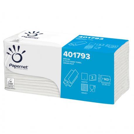Asciugamani piegati a Z - goffratura a onda - Papernet - conf. 143 pezzi