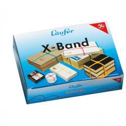 Elastici X Band - ø 10 cm (150x11 mm) - colori assortiti - Lebez - scatola da 100 gr