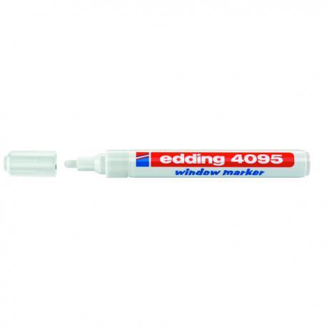 Marcatore Edding 4095 - punta tonda da 2,00-3,00mm - bianco - Edding