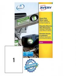 Etichetta in poliestere L4775 - adatta a stampanti laser - permanente - 210x297 mm - 1 etichetta per foglio - bianco - Avery - c