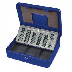 Cassetta portavalori Europa - 30x24x9 cm - blu - Metalplus