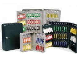 Cassetta portachiavi da muro - 30x24x7 cm - 84 posti - grigio antracite - Metalplus