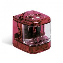 Temperamatite elettrico 4306 - 2 fori - con contenitore - colori assortiti - Lebez