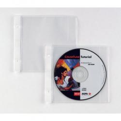 Buste forate Atla CD 1 - 1 tasca - 12.5x12 cm - Sei Rota - conf. 25 pezzi