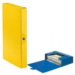 Scatola progetto Eurobox - dorso 4 cm - 25x35 cm - giallo - Esselte