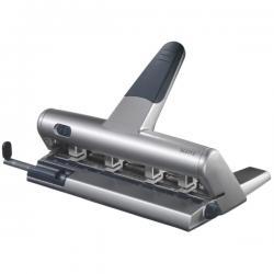 Perforatore Akto a punzoni indipendenti - massimo 30 fogli - 4/6 fori - passo 6/8 cm - argento - Leitz