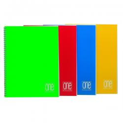 Maxiquaderno One Color - A4 - quadretto 5mm - 60fg - 80gr - 4fori - spiralato - Blasetti