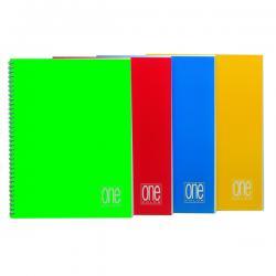 Maxiquaderno One Color - A4 - quadretto 5mm - 60 fogli - 80gr - 4 fori - spiralato - Blasetti