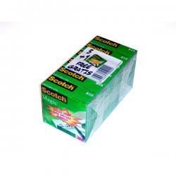 Nastro adesivo Scotch® Magic™ 810 - permanente - 19 mm x 33 mt - trasparente - Scotch® - Promo Pack 5+1 rotoli