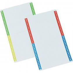 Cartoncini per cartelle sospese - armadio - 40 cartoncini per foglio - 14 cm - Bertesi - conf. 10 fogli