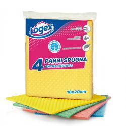 Panno in spugna - 18x20 cm - Logex Professional - conf. 4 pezzi
