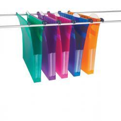 Cartelle sospese - cassetto - interasse 33 cm - fondo U 3 cm - PPL - 30,7x24,2 cm - colori assortiti - Rexel - conf. 5 pezzi
