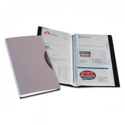 Portabiglietti da visita Office Suites - 120 tasche - con custodia - 11,4x19,2 cm - nero - Fellowes