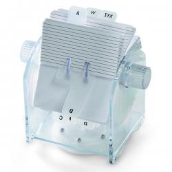 Schedario rotante ABS - trasparente - Lebez