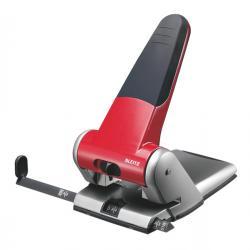 Perforatore 5180 - passo 8 cm - massimo 65 fogli - 2 fori - rosso - Leitz