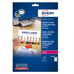 Biglietti da visita - 85 x 54mm - 260gr - effetto satinata - 10 biglietti - Avery - conf. 25fg