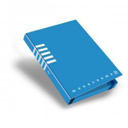 Cartella progetto Monocromo - con elastico - dorso 3 cm - colori assortiti - Pigna