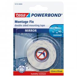 Nastro biadesivo per specchi Tesa® Powerbond - 1,5 mt x 19 mm - bianco - Tesa® -blister 1 pezzo